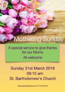 Mothering Sunday Service @ St Bartholomew's Church
